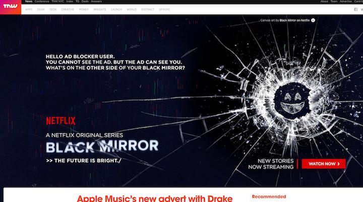 Netflix Black Mirror reclame